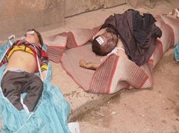 Des victimes civiles de l'attaque chimique contre Khan Al-Assal
